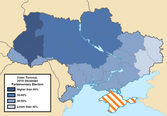 Voter Turnout, 2014 Ukrainian Parliamentary Election