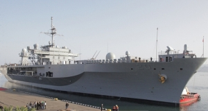 USS Mount Whitney in Batumi (Civil.ge)