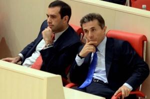 An uneasy partnership: Irakli Alasania with Bidzina Ivanishvili (Civil.ge)