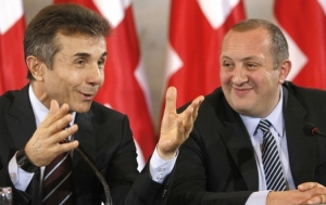 Ivanishvili and Margvelashvili in happier times (Agenda.ge)