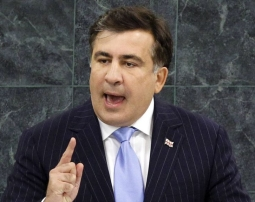Mikheil Saakashvili at the UN (Reuters)