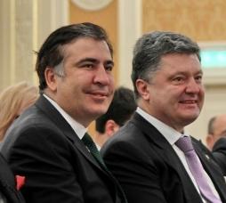 Ukrainian President Petro Poroshenko and former Georgian President Mikheil Saakashvili