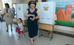 Voting in Nagorny Karabakh (Photolur). In 2017, locals in this disputed majority-Armenian Caucasus region will be voting for a new president.  It is uncertain who will succeed incumbent Bako Sahakyan.
