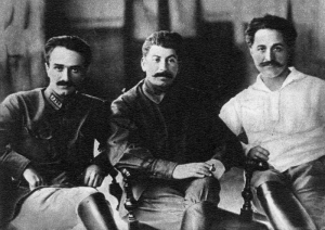 Anastas Mikoyan, Joseph Stalin, and Sergo Ordzhonikidze, Tbilisi, 1925.  Though often blamed for assigning Nagorny Karabakh to Azerbaijan, Stalin's actual influence was not a major factor in the final decision.