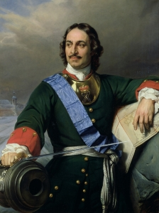 Tsar Peter the Great saw great potential in expanding Russia into the Caucasus.  Portrait by Paul Delaroche, 1838.