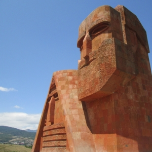 We Are Our Mountains monument in Stepanakert, the capital of Nagorny Karabakh.  This statue is widely regarded as a symbol of Karabakh's identity
